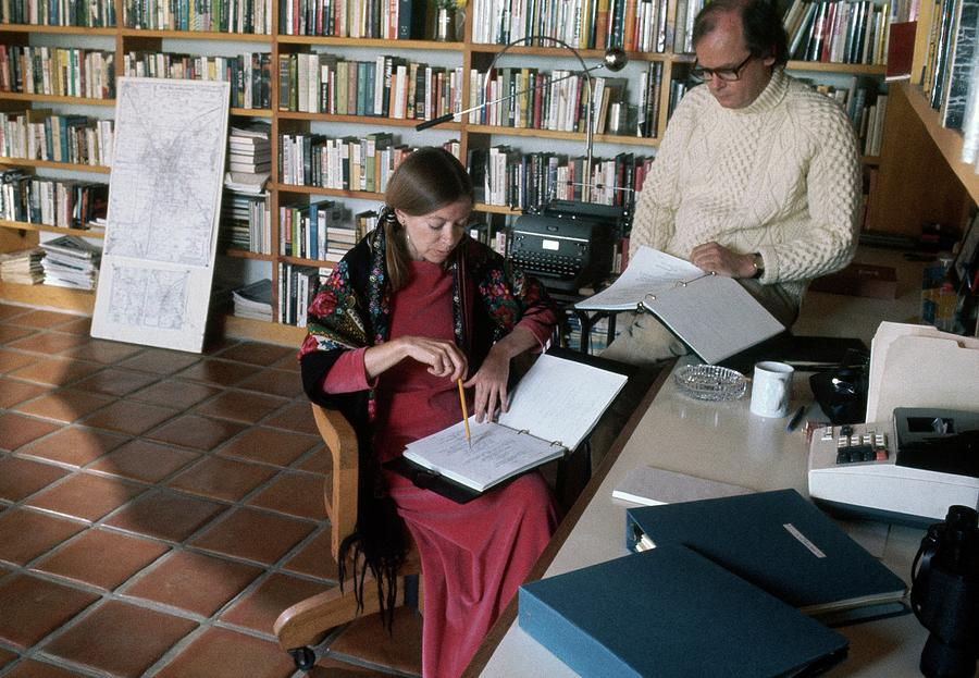 Joan Didion And John Gregory Dunne Photograph by Henry Clarke