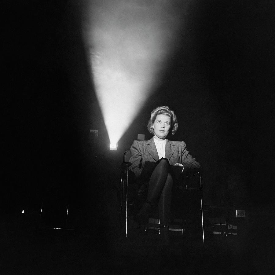 Joan Harrison In A Dark Cinema Photograph by Ralph Crane