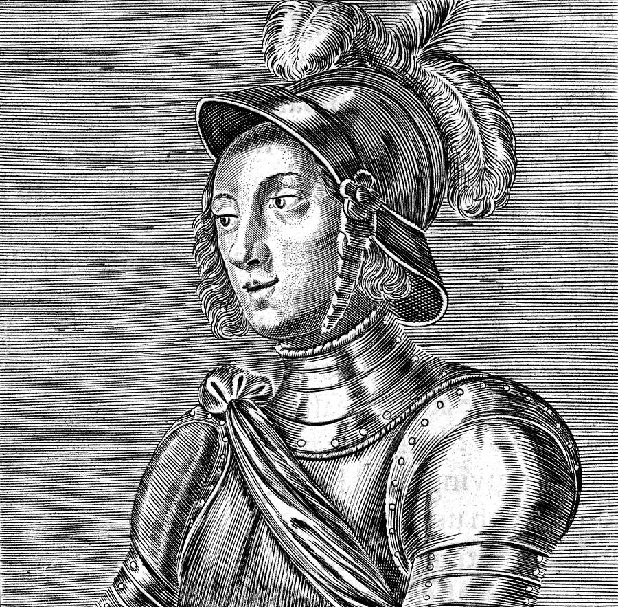 Joan Drawing - Joan Of Arc  French Heroine by Mary Evans Picture Library
