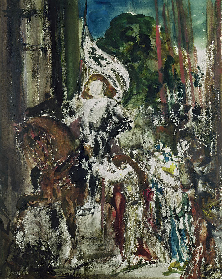 Joan Of Arc Painting by Gustave Moreau