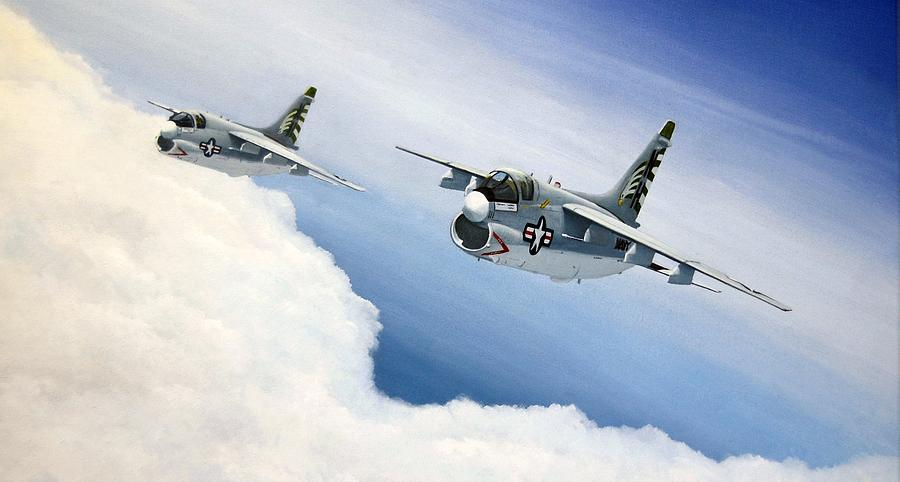 Naval Aviation Painting - Job Done by Pete Wenman
