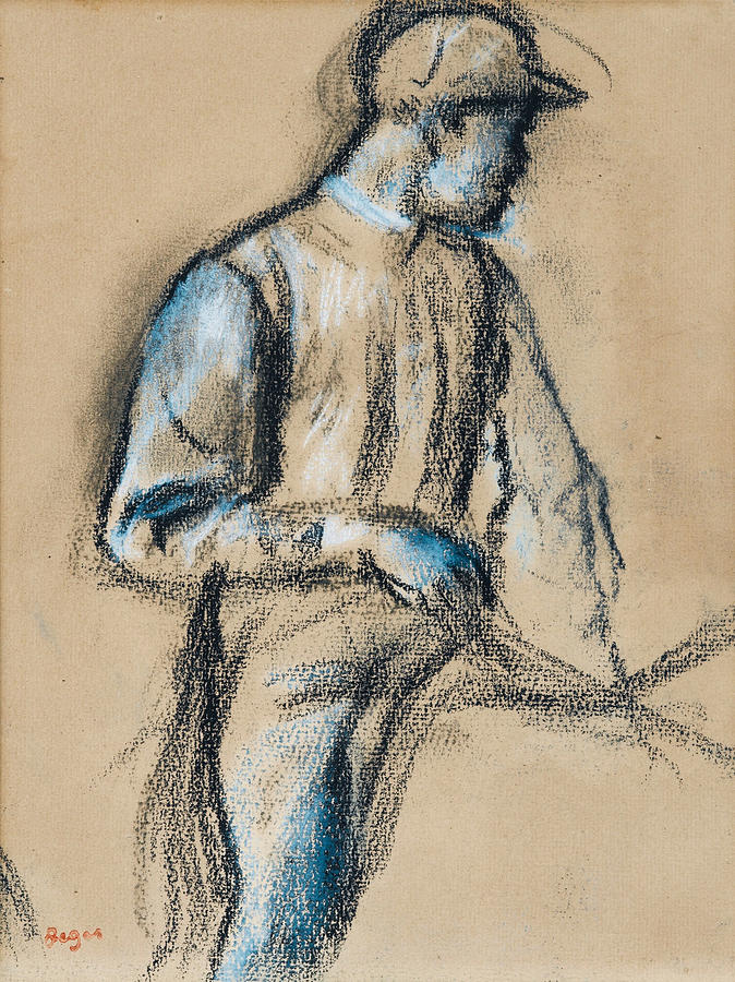 Edgar Degas Drawing - Jockey by Edgar Degas