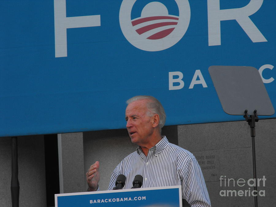 Politician Photograph - Joe Biden by Lisa Gifford
