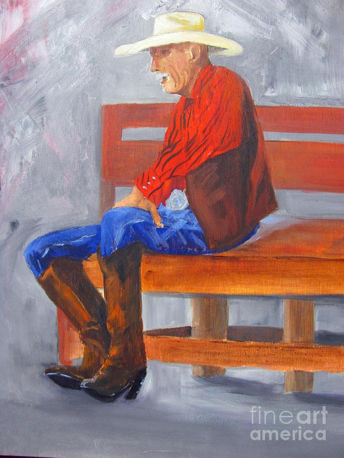 Cowboy Painting - Joe From Hico by Barbara Haviland
