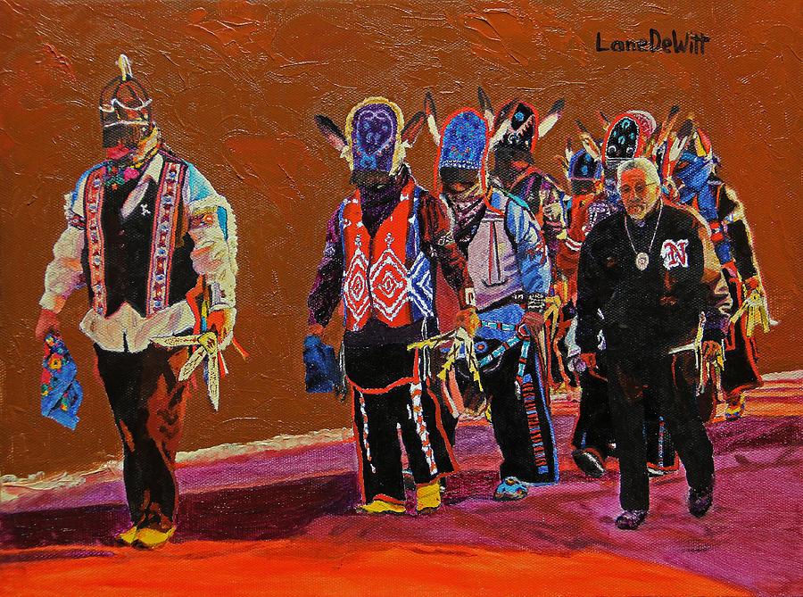 Matachines Painting - Joe Garcias Soldiers by Lane DeWitt