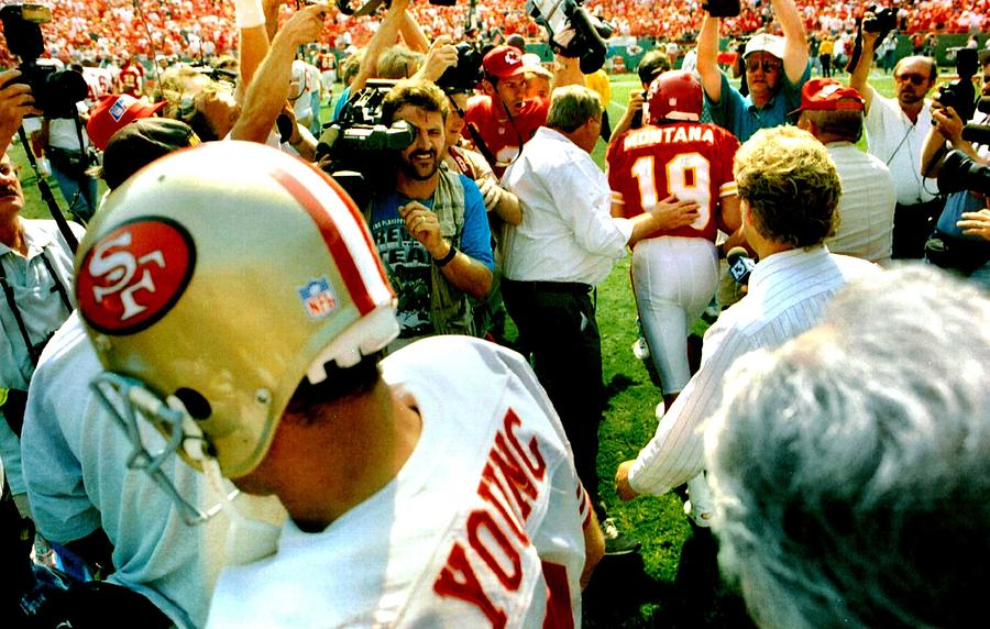 Joe Montana meets Steve Young by Retro Images Archive