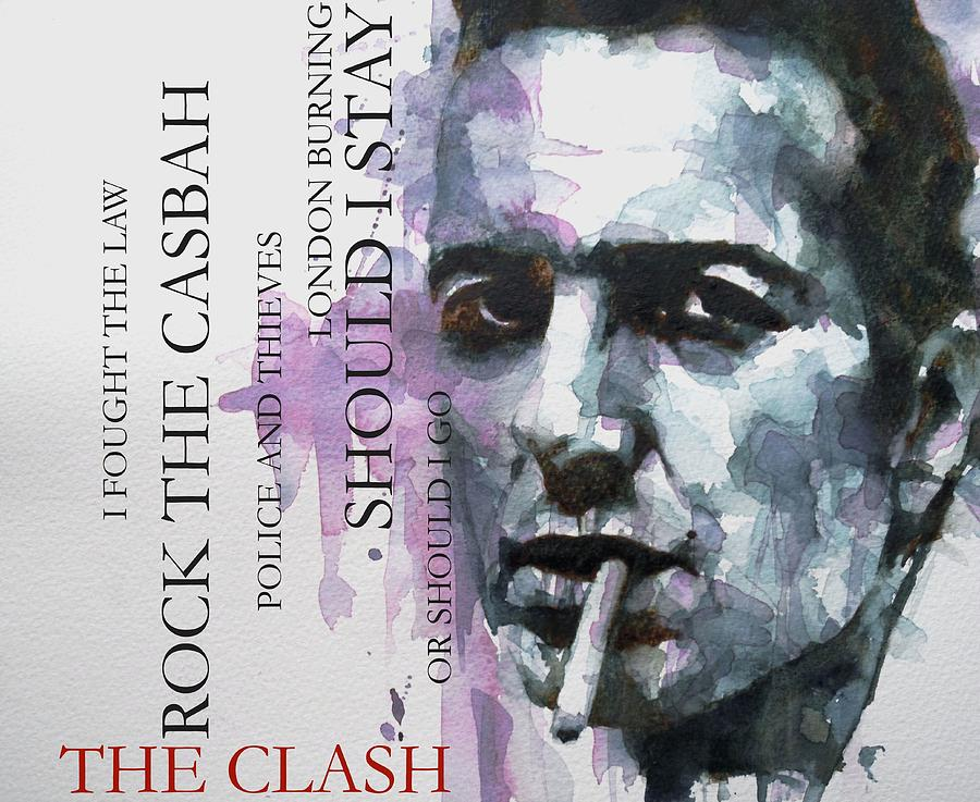 The Clash Painting - Joe Strummer by Paul Lovering