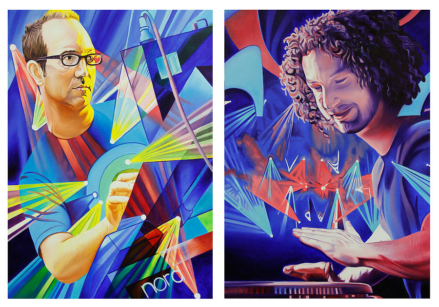 Umphrey's Mcgee Painting - Joel And Andy by Joshua Morton