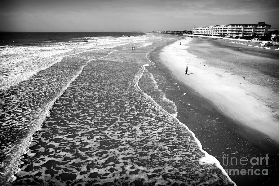 Jogger Photograph - Jogging At Folly Beach by John Rizzuto
