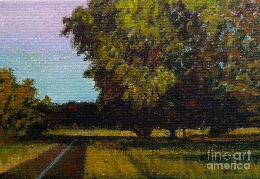Trees Painting - Jogging Trail At Two Rivers Park by Amber Woodrum