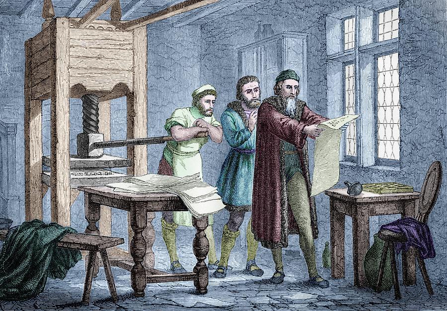 Johann Gutenberg Photograph - Johann Gutenberg by Michael Marten