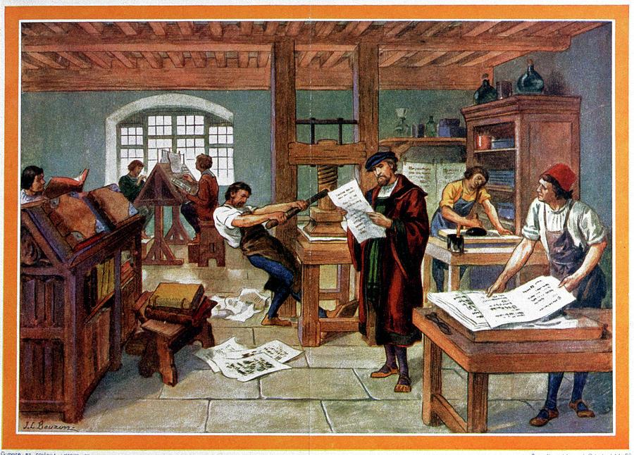 Johann Gutenberg Photograph - Johann Gutenbergs Printing Press by Cci Archives/science Photo Library