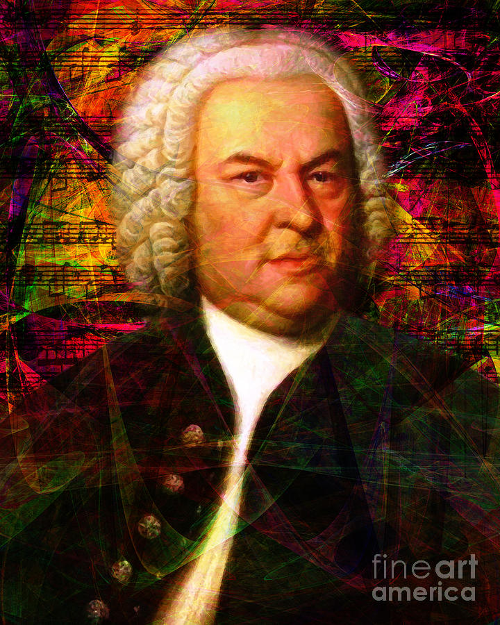Johann Sebastian Bach 20140126v2 by Wingsdomain Art and Photography