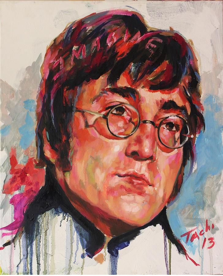 John Lennon Painting - John - 2 by Tachi Pintor