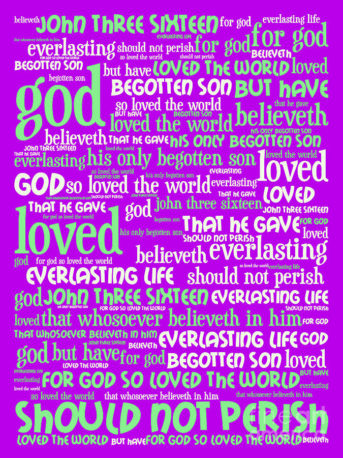 John Photograph - John 3-16 For God So Loved The World 20130622p60 Vertical by Wingsdomain Art and Photography