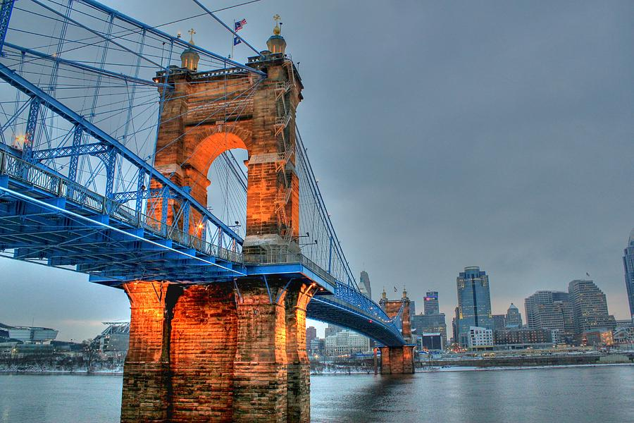 John A Roebling Suspension Bridge Cincinnati Ohio ...