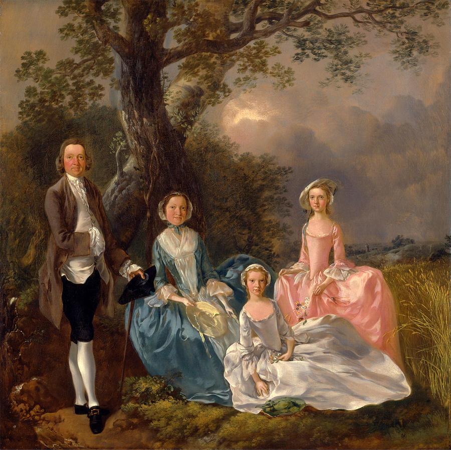 Thomas Gainsborough Painting - John And Ann Gravenor With Their Daughters by Thomas Gainsborough