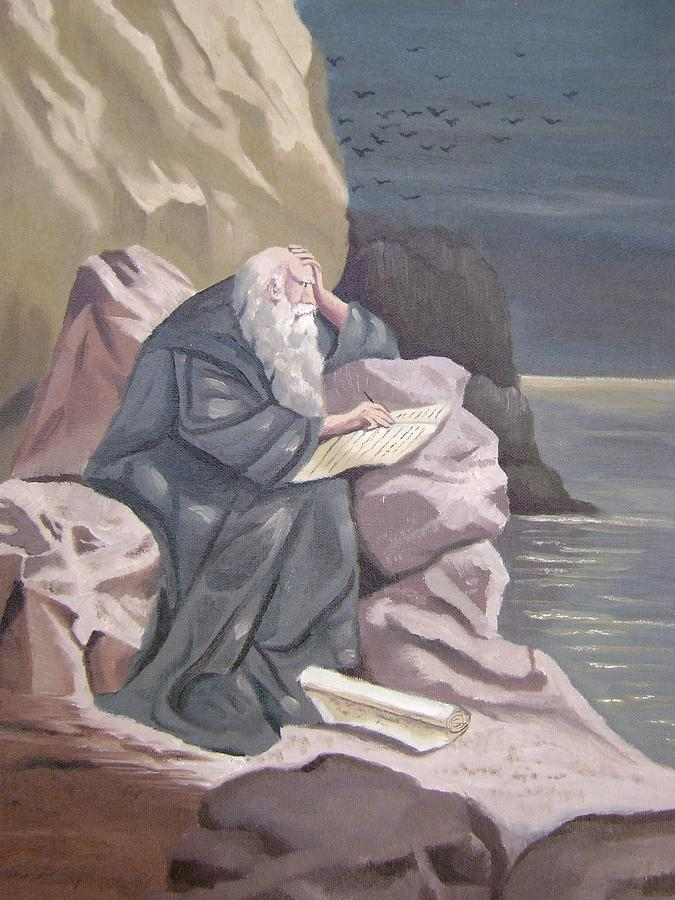 Religion Painting - John At Patmos by Tanya Provines