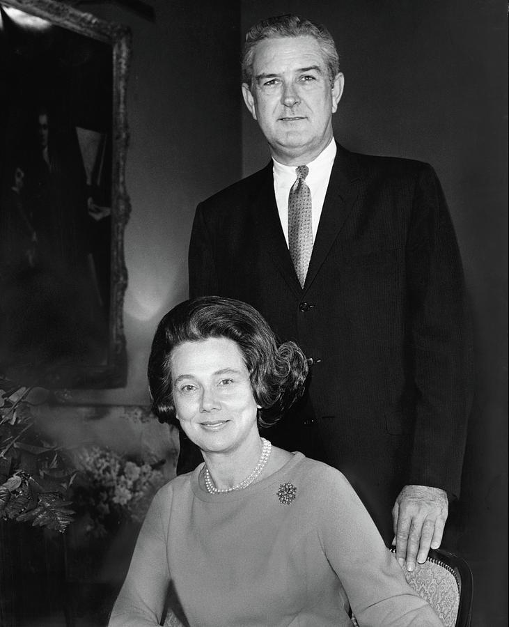 John B Connally And Idanell Connally Photograph by Horst P. Horst