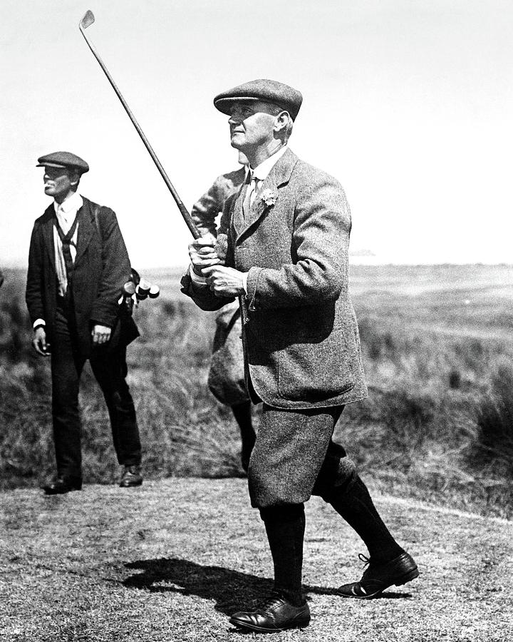 John ball playing golf photograph by artist unknown