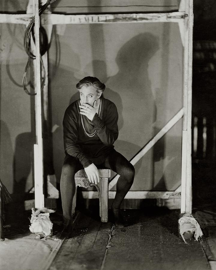 Entertainment Photograph - John Barrymore Smoking A Cigarette by James Abbe