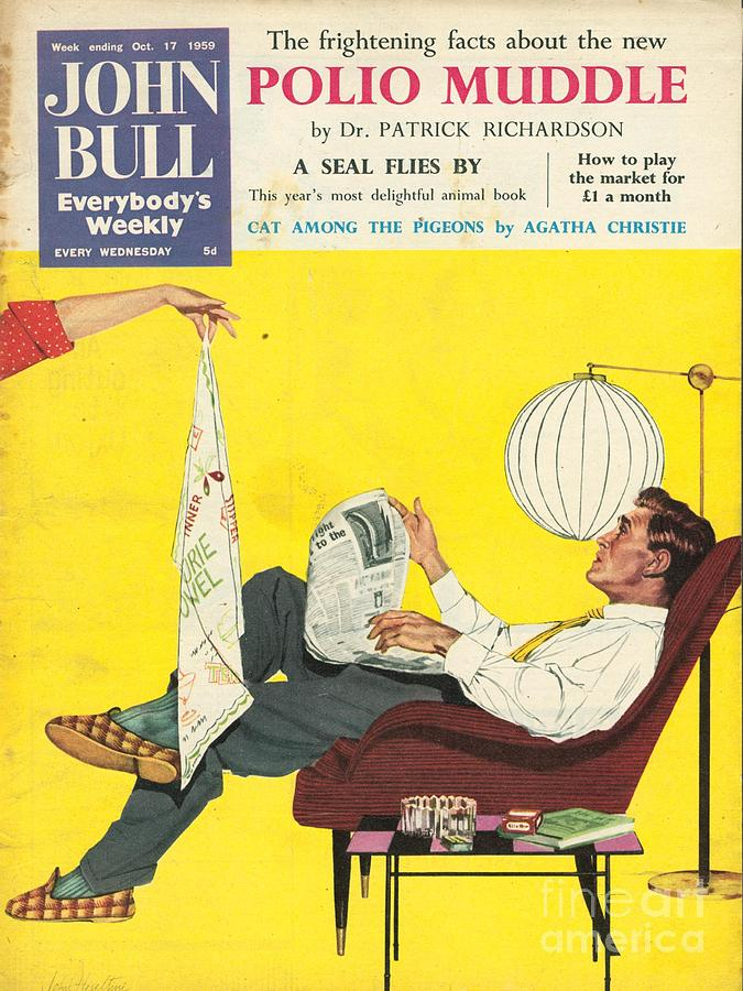 1950s Drawing - John Bull 1950s Uk Dish Washing by The Advertising Archives