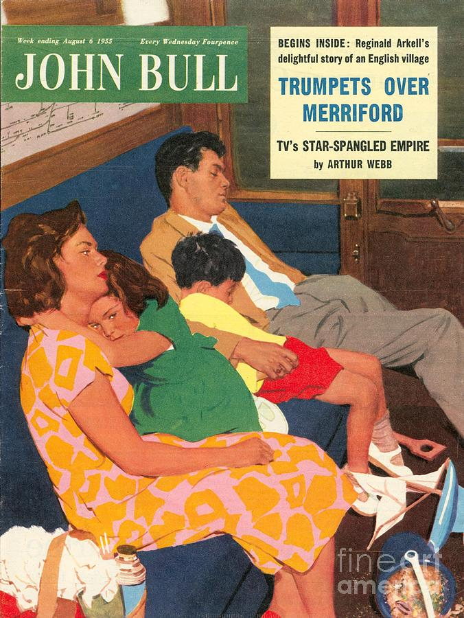 1950s Drawing - John Bull 1950s Uk Holidays  Trains Day by The Advertising Archives