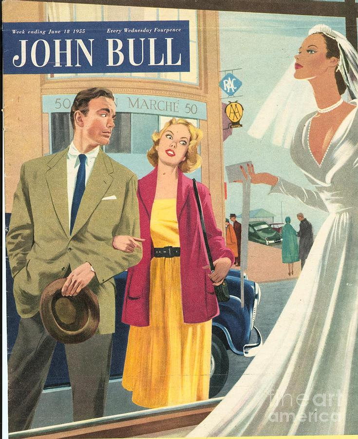 1950s Drawing - John Bull 1950s Uk Marriages Shopping by The Advertising Archives