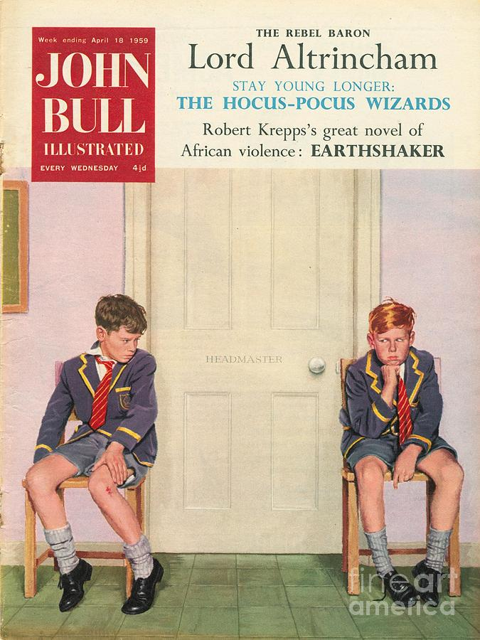 1950s Drawing - John Bull 1950s Uk Schools Magazines by The Advertising Archives