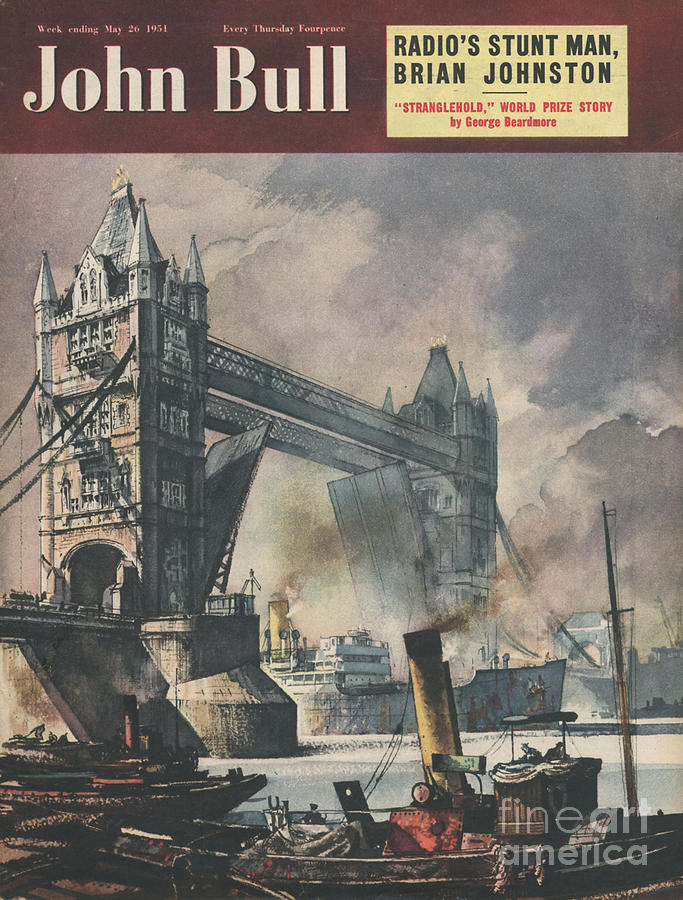 1950s Drawing - John Bull 1951 1950s Uk Tower Bridge by The Advertising Archives