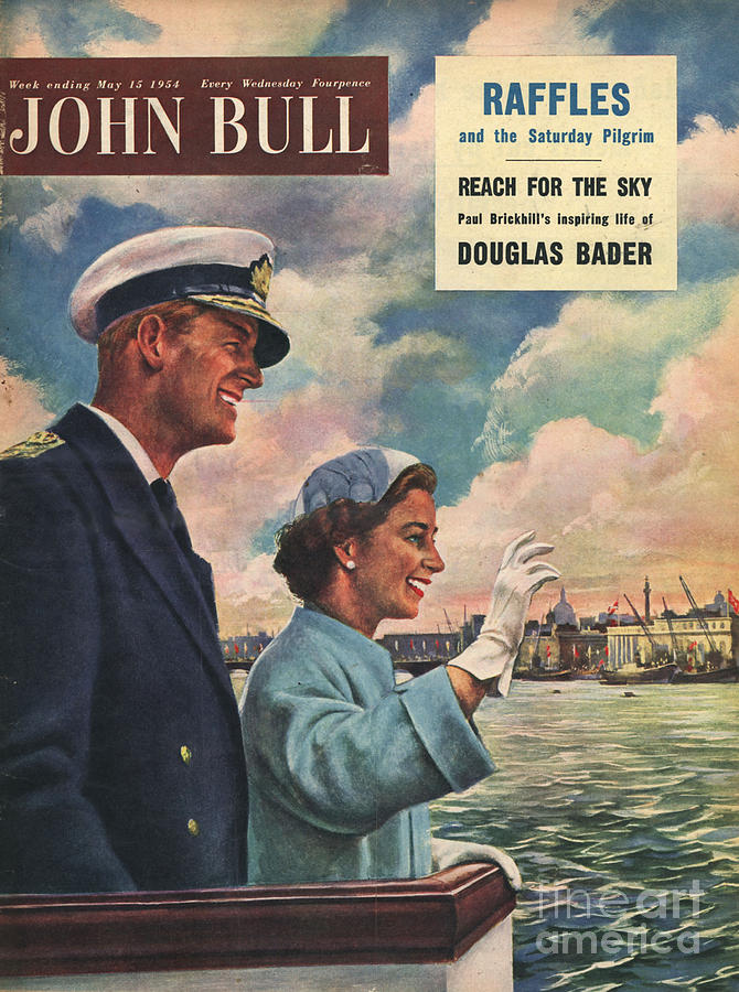 1950�s Drawing - John Bull 1954 1950s Uk Queen Elizabeth by The Advertising Archives
