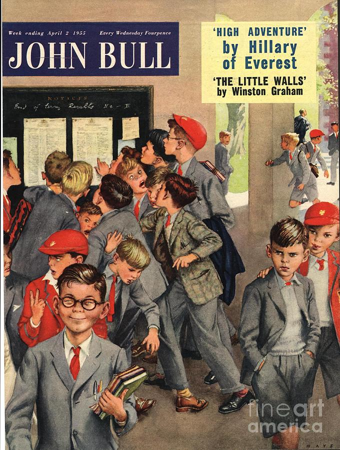 1950s Drawing - John Bull 1955 1950s Uk Schools Swots by The Advertising Archives