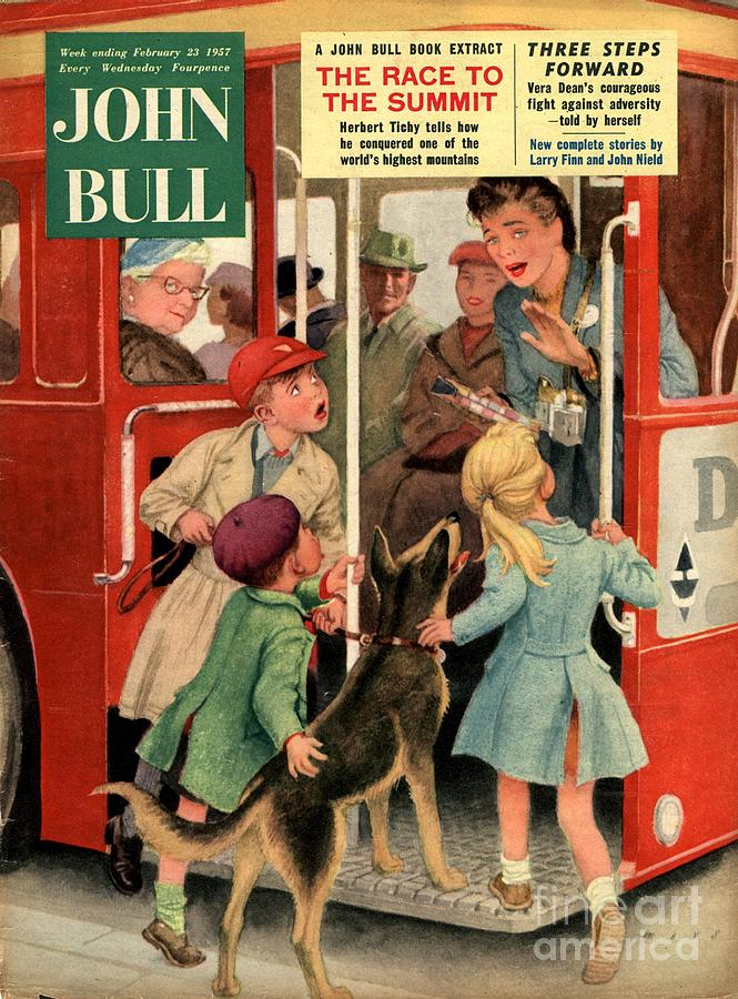 1950s Drawing - John Bull 1957 1950s Uk Dogs Buses by The Advertising Archives