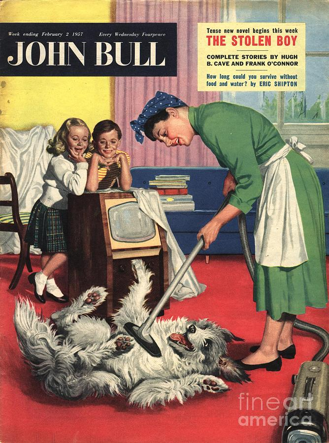 1950s Drawing - John Bull 1957 1950s Uk Dogs Cleaning by The Advertising Archives
