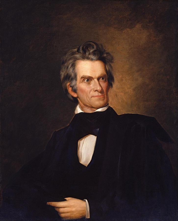 John C Calhoun Painting - John C Calhoun  by War Is Hell Store