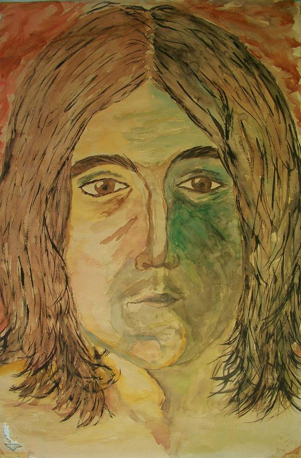 John Lennon Painting - John by Carrie Viscome Skinner