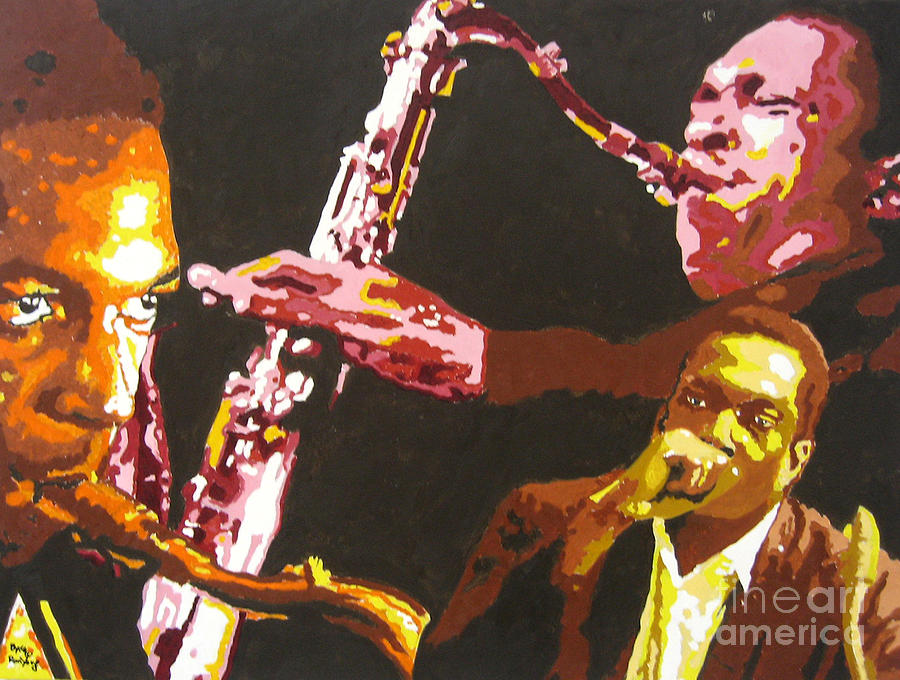 Jazz Painting - John Coltrane A Love Supreme by Ronald Young