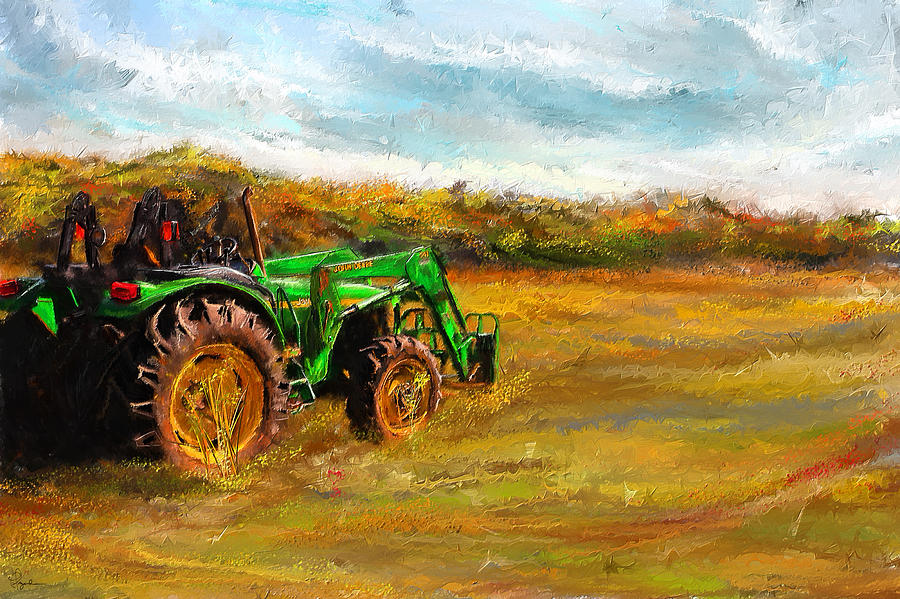 John Deere Tractor John Deere Art Painting By Lourry Legarde