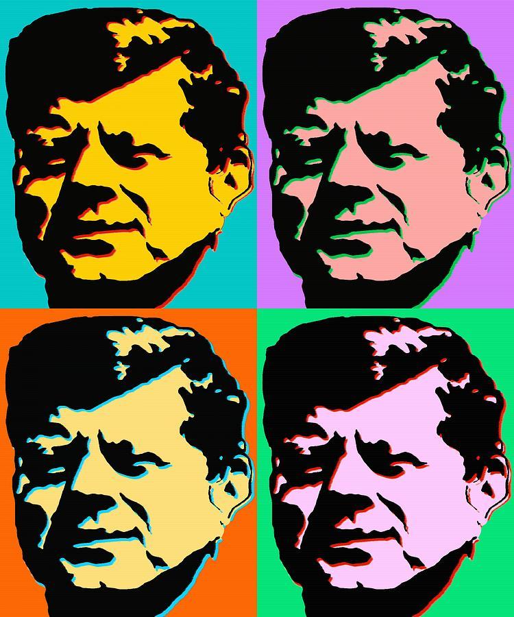 John F Kennedy Pop Art Color Poster Digital Art By Art