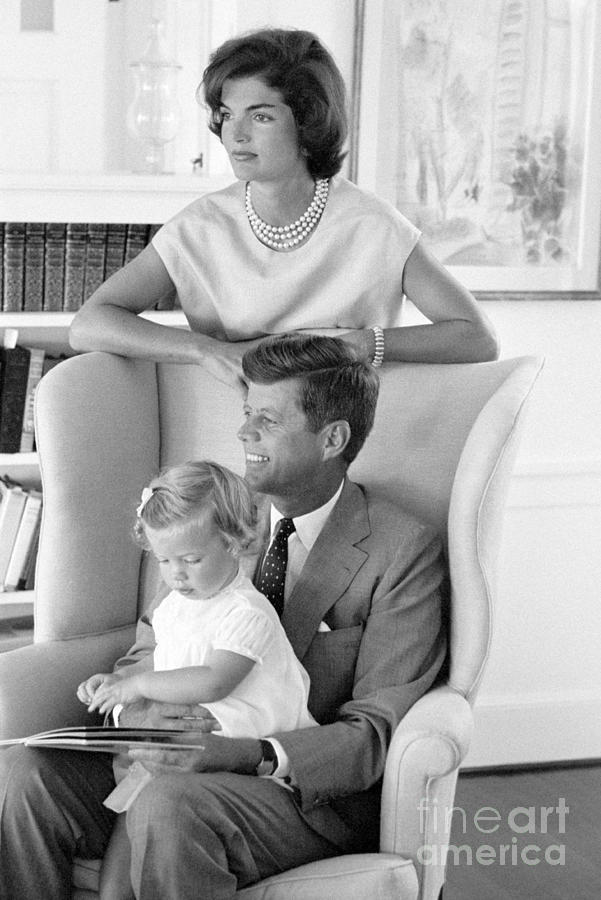 Senator John F. Kennedy Photograph - John F. Kennedy with Jacqueline and Caroline 1959 by The Harrington Collection