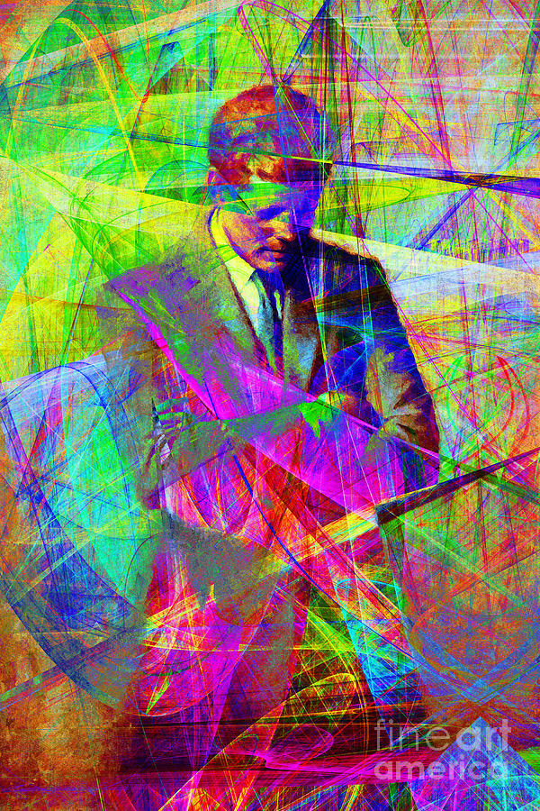 Wingsdomain Photograph - John Fitzgerald Kennedy Jfk In Abstract 20130610 by Wingsdomain Art and Photography
