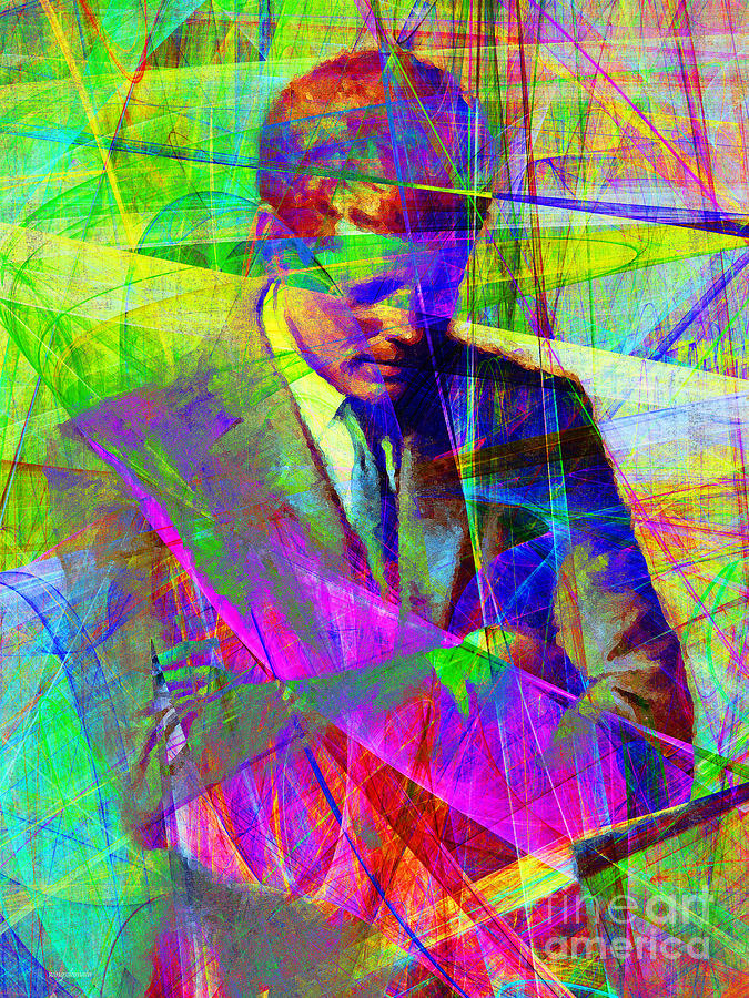 Wingsdomain Photograph - John Fitzgerald Kennedy Jfk In Abstract 20130610v2 by Wingsdomain Art and Photography