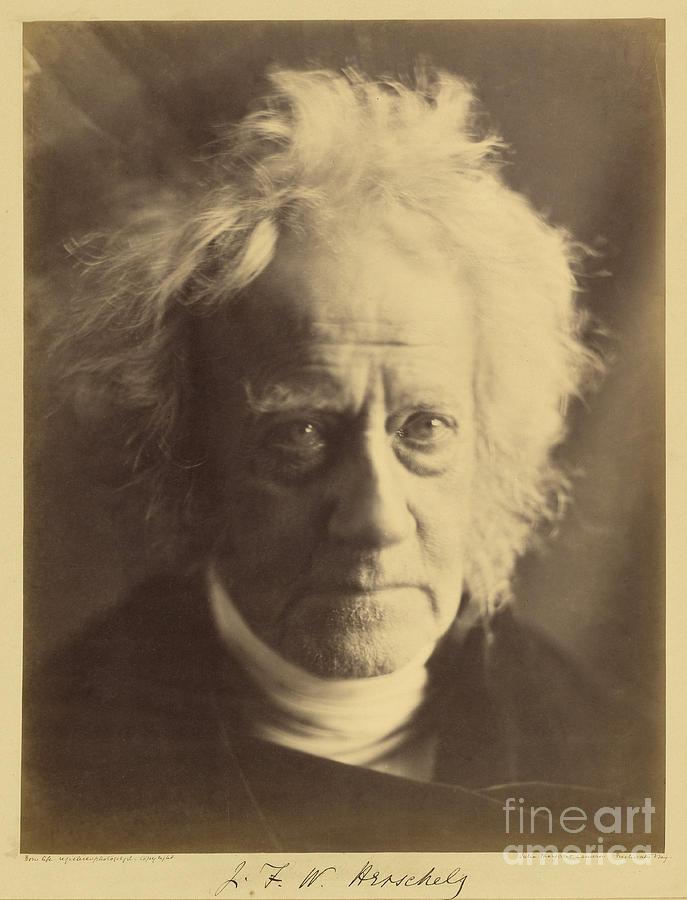Herschel Photograph - John Frederick William Herschel 1867 by Getty Research Institute