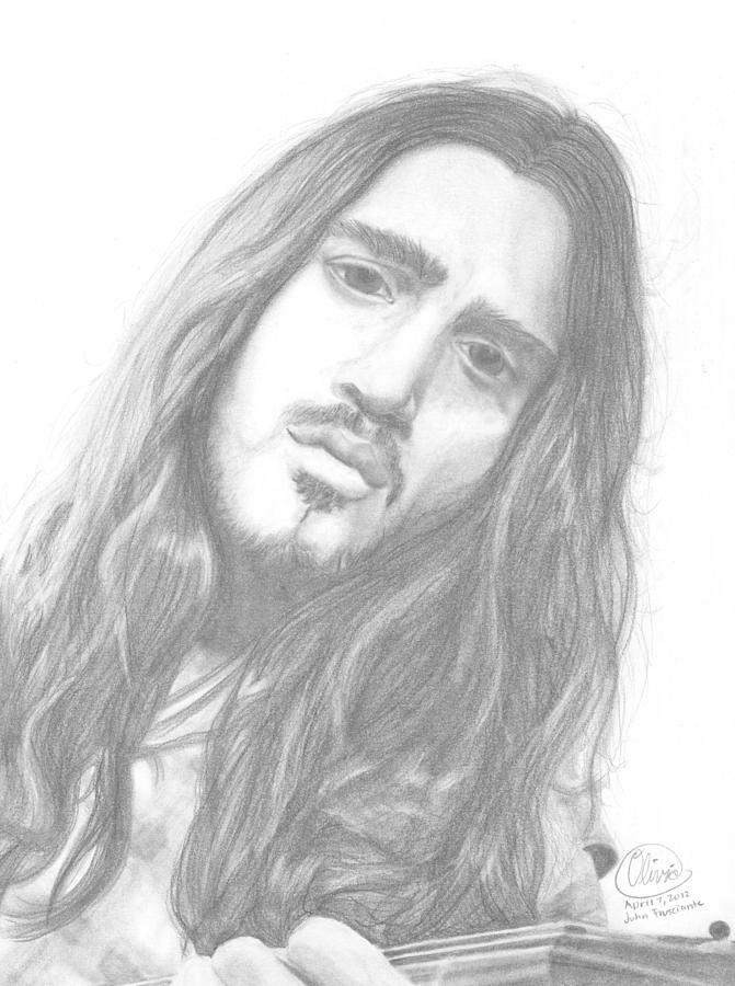 John Frusciante Drawing - John Frusciante by Olivia Schiermeyer