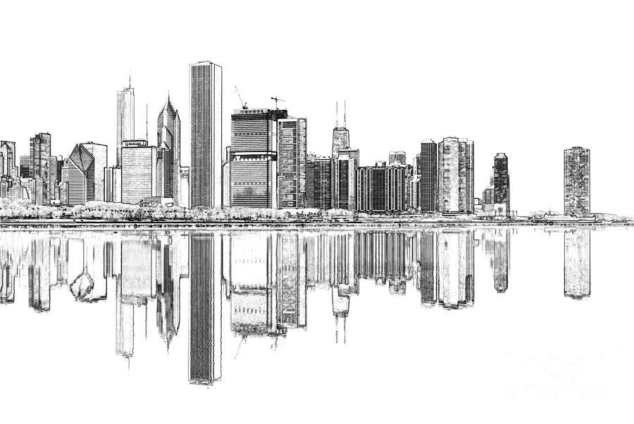 Chicago Landscape Digital Art - John Hancock Chicago by Dejan Jovanovic