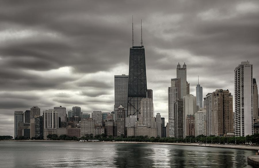 Chicago Photograph - John Handcock Building From The Lake Shore by Ken Smith