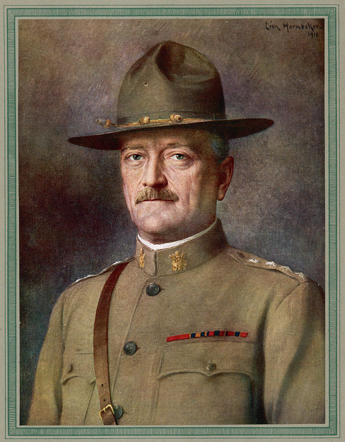 Pershing Drawing - John Joseph Pershing    Nicknamed Black by Mary Evans Picture Library