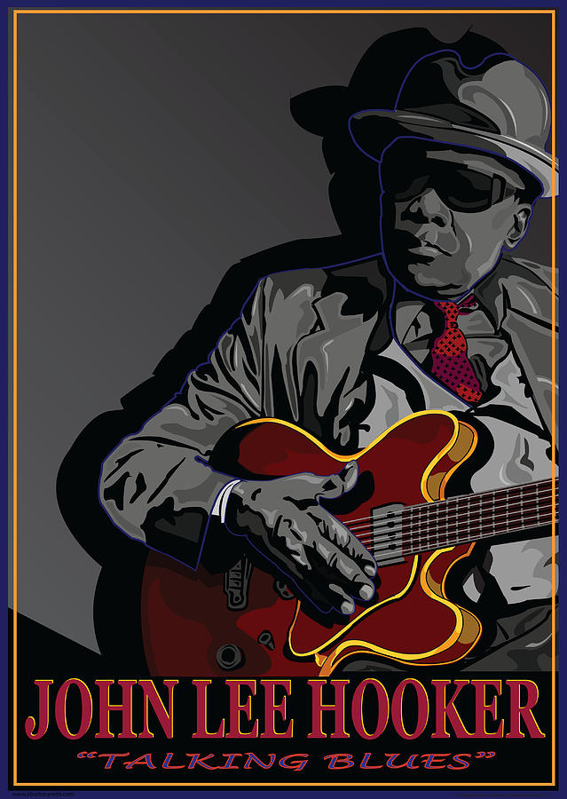 John Lee Hooker Digital Art - John Lee Hooker by Larry Butterworth