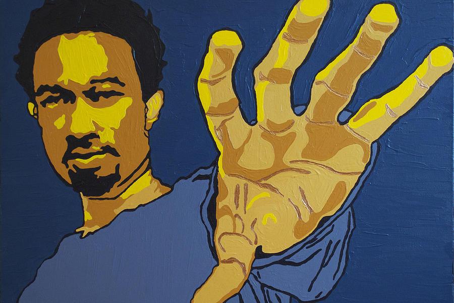 John Legend Painting - John Legend by Rachel Natalie Rawlins