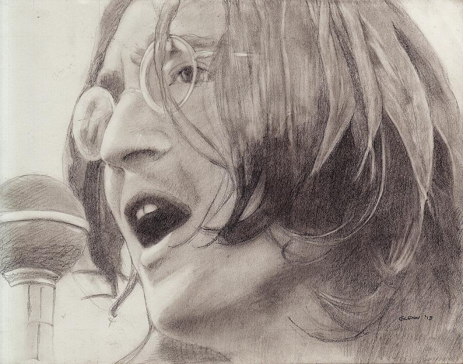 Portrait Drawing - John Lennon 4 by Glenn Daniels